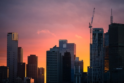 A High Rise Building on Sunset