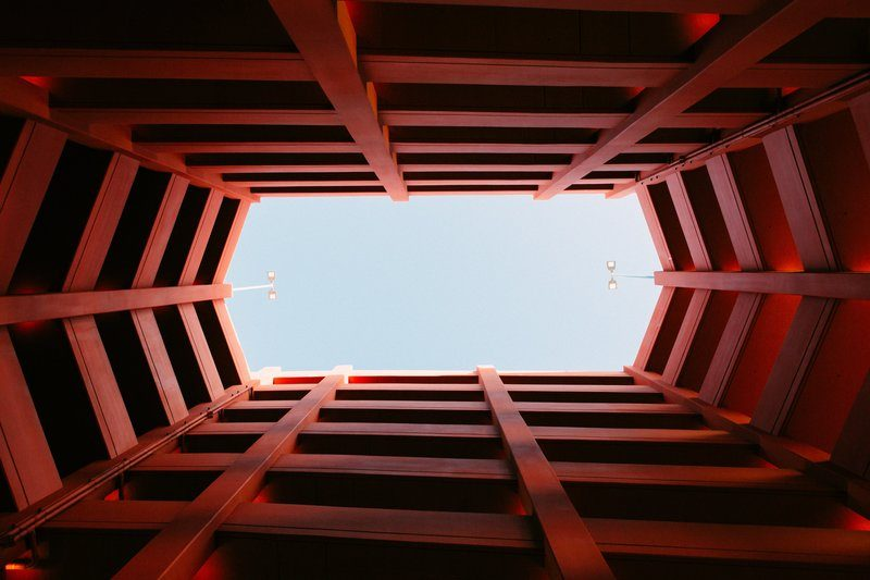 A Look Through The Centre Of A Parking Structure