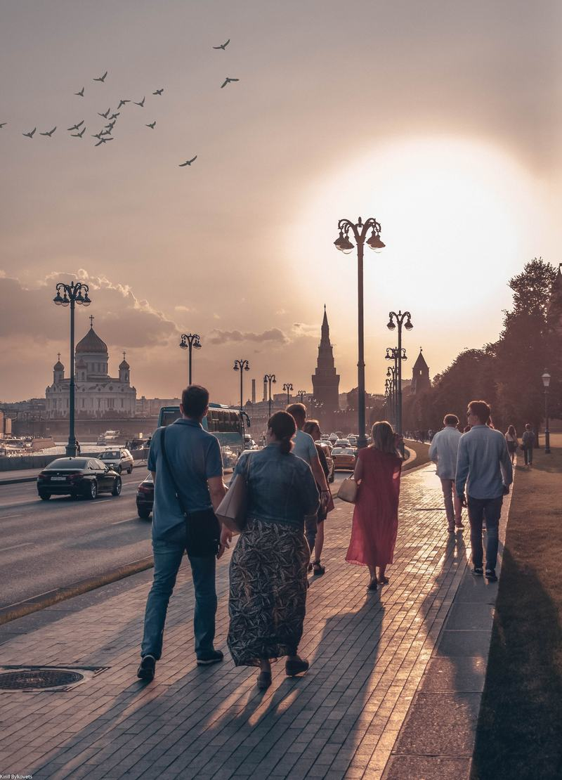 People Walking in Moscow