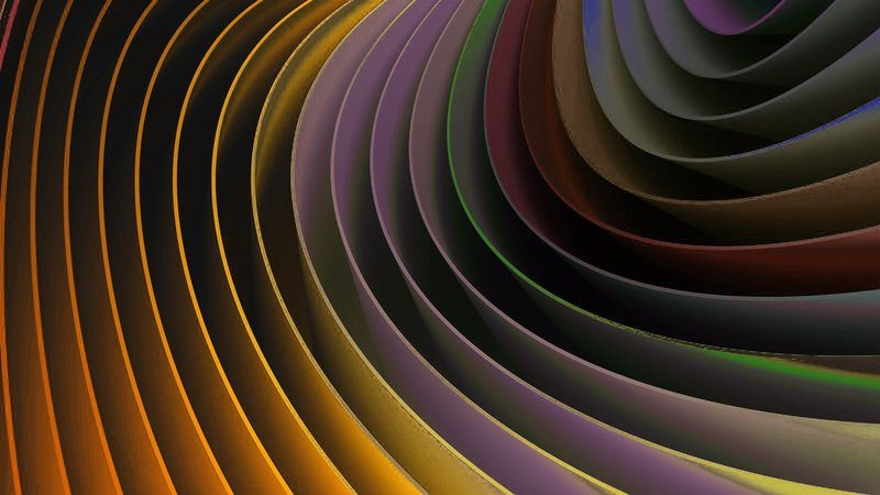 Abstract Wave Of Colors