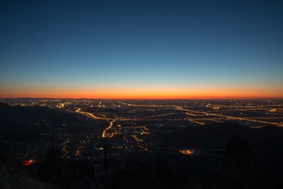 Aerial View of City at Night Time