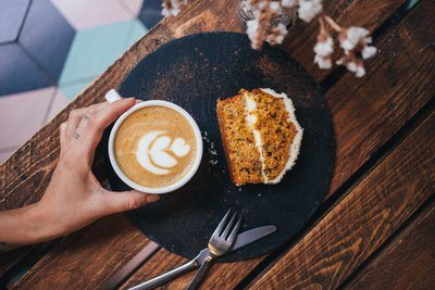Afternoon Coffee And Coffee Cake