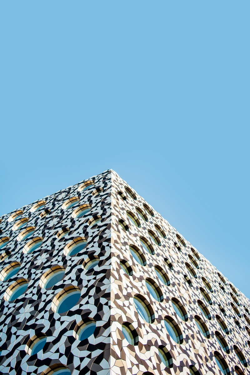 Architectural Photography of Triangular Building