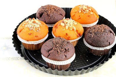 Assorted Muffins On Tray