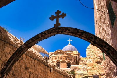 At the Holy Sepulchre in Jerusalem