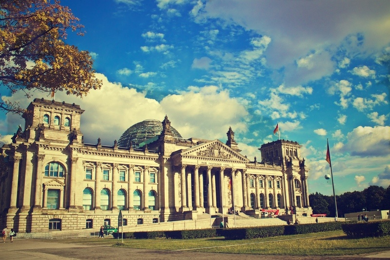 Berlin Building With Blue Sky