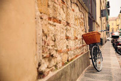 Bike Leaning On Wall