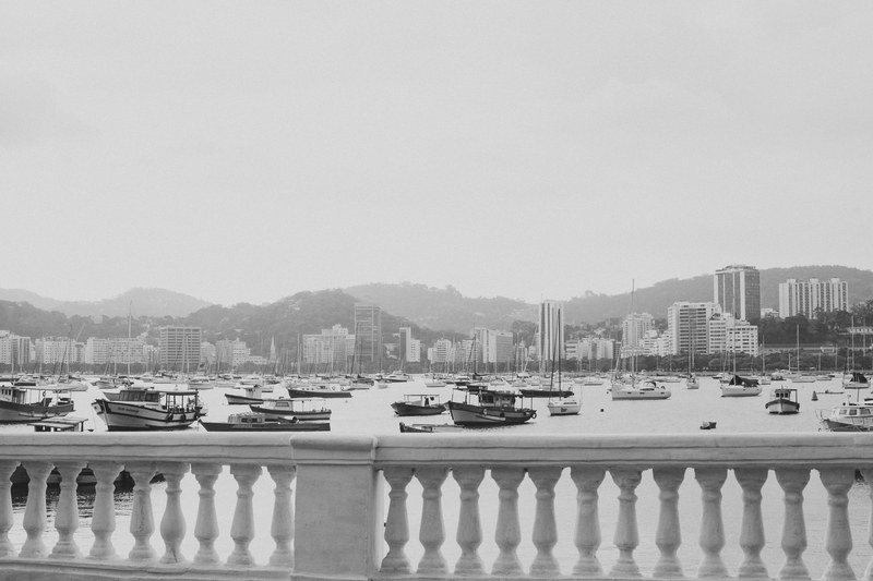 Black & White  Boats in Water