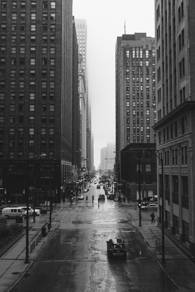 Black & White  City Street