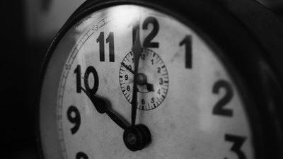 Black & White Photography of Pocket Watch