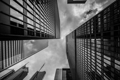 Black and White Skyscrapers