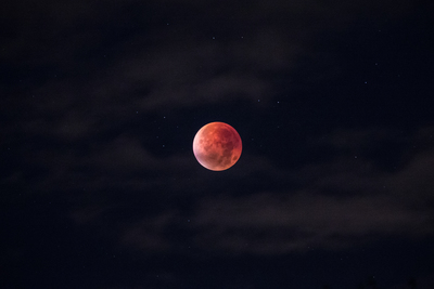 Blood Moon at Night