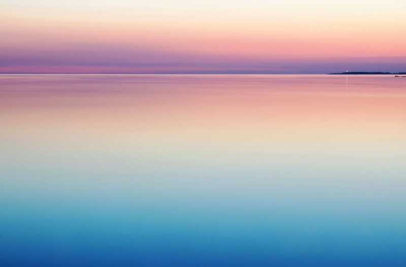 Blue And Pink Sea