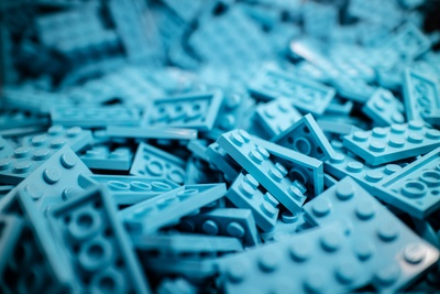 Blue Building Block Lot