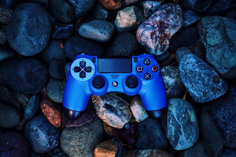 Blue Gaming Controller
