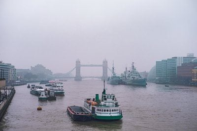 Boats On The River Thames