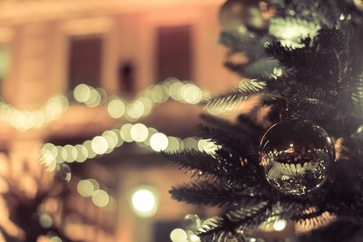 Bokeh Christmas Tree Baubles