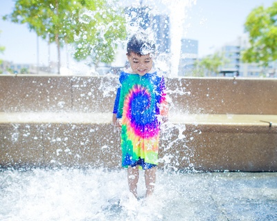 Boy Standing on Water