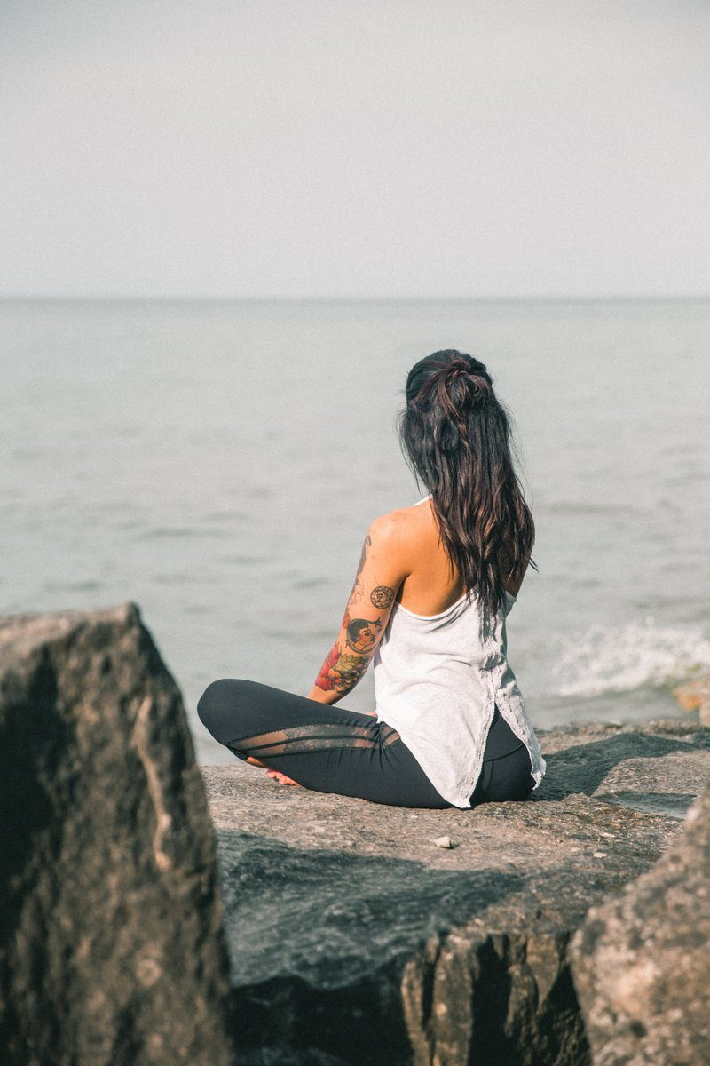 Breathing And Yoga By The Sea