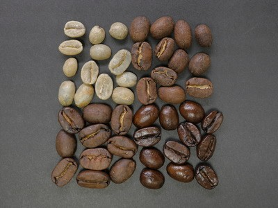 Grains de café bruns