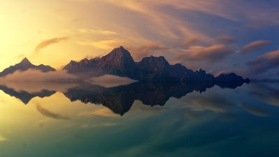 Brown Mountain Mirrored in Water