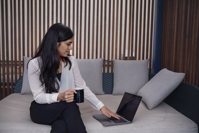 Businesswoman In Casual workspace