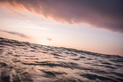 Calm Waves at Sunset