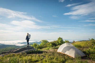 Camping On Top Of The World