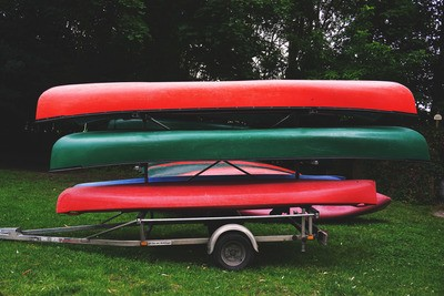 Canoes on Trailer