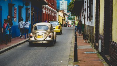 Cars On Carribean Streets