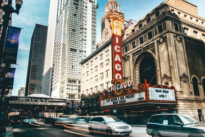 Chicago theater in Time Lapse