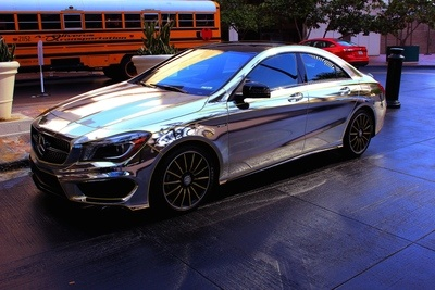 Voiture Mercedes Chrome