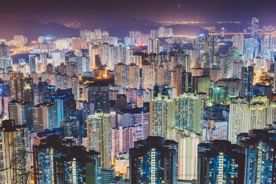 Cities Scape at Night