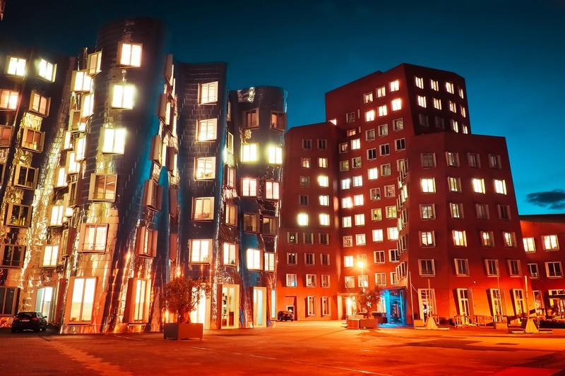 City Buildings By Night
