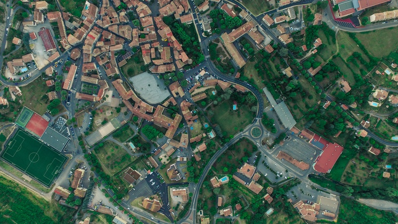 City with Houses