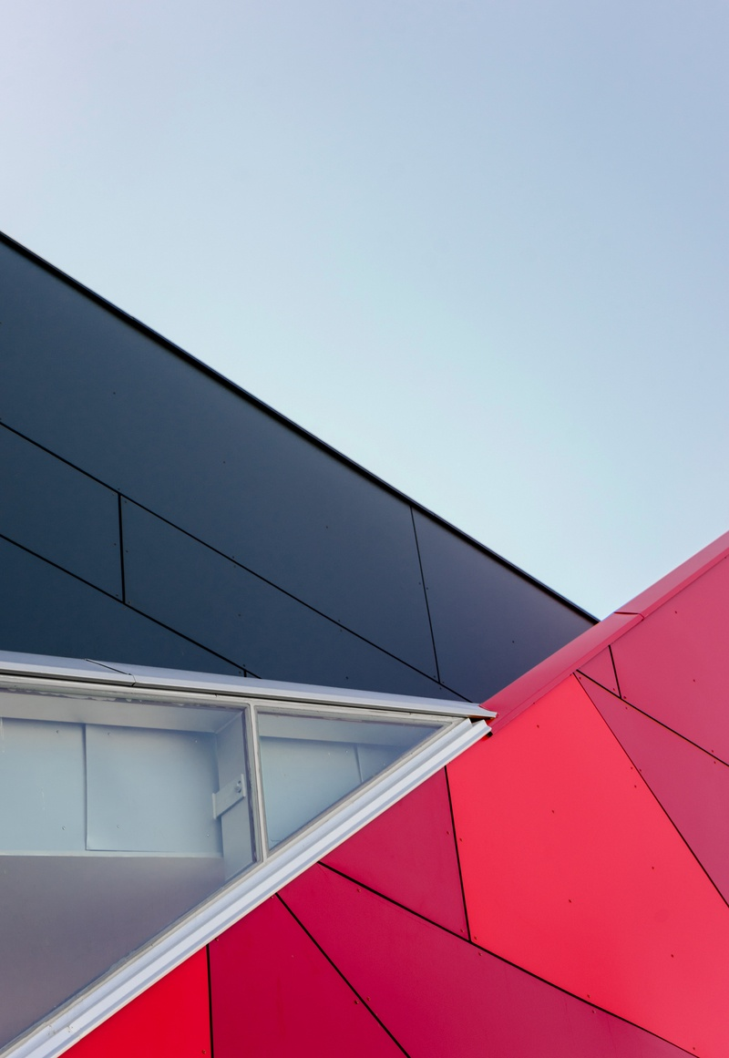 Closeup  Black And Red Building