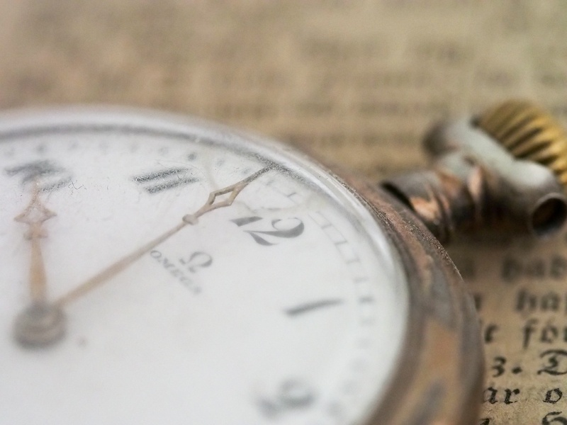 Closeup  Gold-Colored Pocket Watch