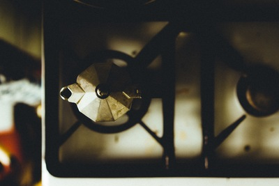 Closeup Photography of White And Black 2-Burner Gas Stove