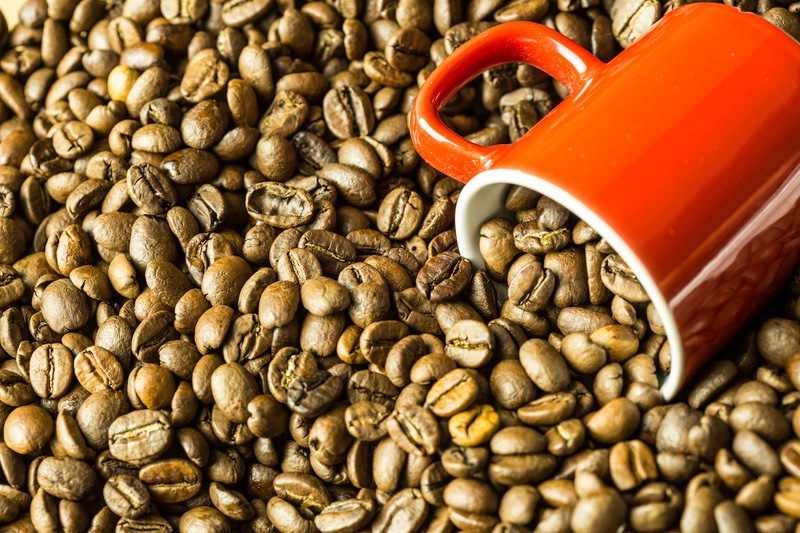 Coffee Beans & Cup