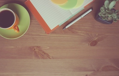 Coffee Cup & Notebook