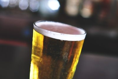 Cold Beer in Pint Glass