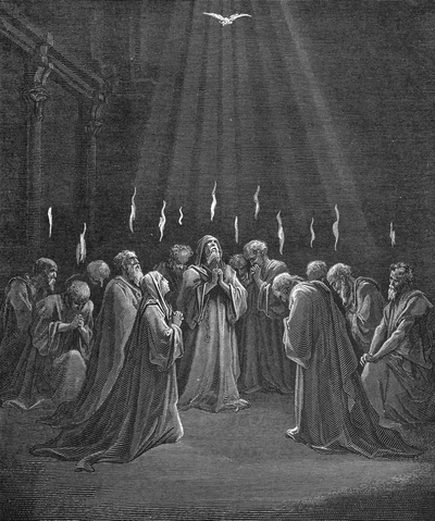Coming of the Holy Spirit, Gustave Dore