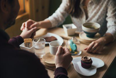 Couple On Coffee Date