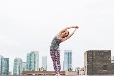 Crescent Moon Pose Side Stretch