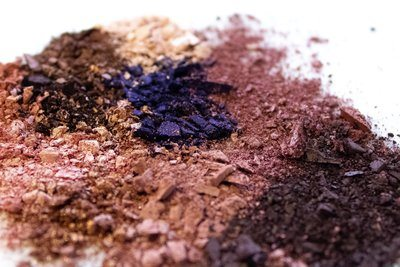 Crushed Makeup In Brown And Purple