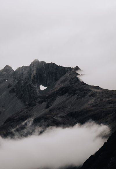 Dark Misty Mountain Top