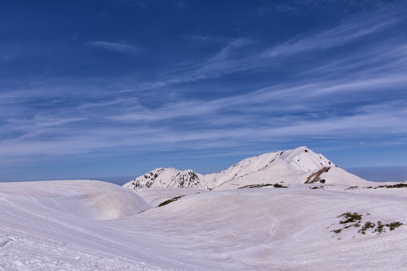 Desolate Alpine Summit And Blue Sky