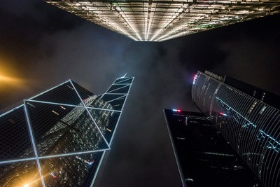 Drone Photograph of Skyscrapers