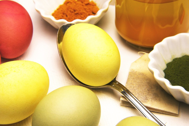 Easter Eggs on Spoon