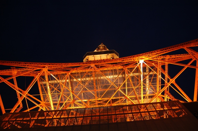 Eiffel Tower, Paris at Nighttime Low Angle